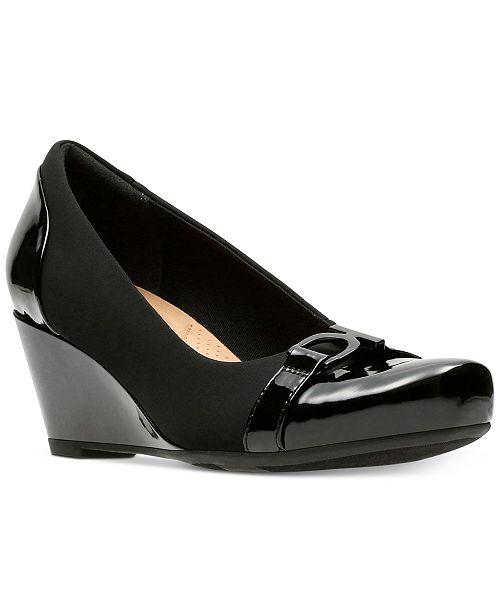 Clarks Collection Women's Flores Poppy Wedge Pumps Women's Shoes 2X38HIw