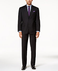 Sean John Men's Classic-Fit Black Stretch Suit Separates
