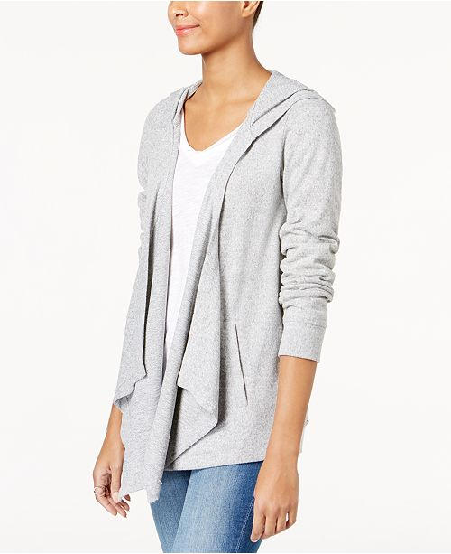 INC International Concepts INC Hooded Open-Front Cardigan, Created for Macy's