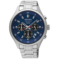 Deals on Seiko Men's Chronograph Stainless Steel Bracelet Watch 43mm