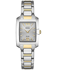 Seiko Women's Solar Dress Sport Two-Tone Stainless Steel Bracelet Watch 24mm