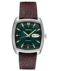 Men's Automatic Recraft Brown Leather Strap Watch 40mm
