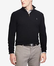 폴로 랄프로렌 Polo Ralph Lauren Mens Cashmere Blend Quarter-Zip Sweater, Created for Macys