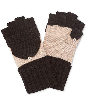 Calvin Klein Colorblock Flip-Top Gloves