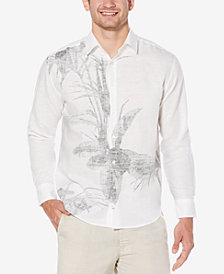 Cubavera Men's Engineered Reverse Print Shirt