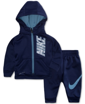 Nike 2Pc Therma Hoodie  Jogger Pants Set Baby Boys (024 months)