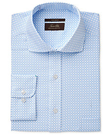 Tasso Elba Men's Classic-Fit Non-Iron Twill Oval Print Dress Shirt, Created for Macy's