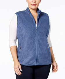Plus Size Zeroproof Zip-Front Vest, Created for Macy's
