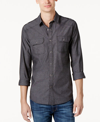 American Rag Men's Chambray Button Down Shirt, Created for Macy's ...