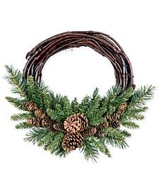 """16"""" Pine Cone Grapevine Wreath"""