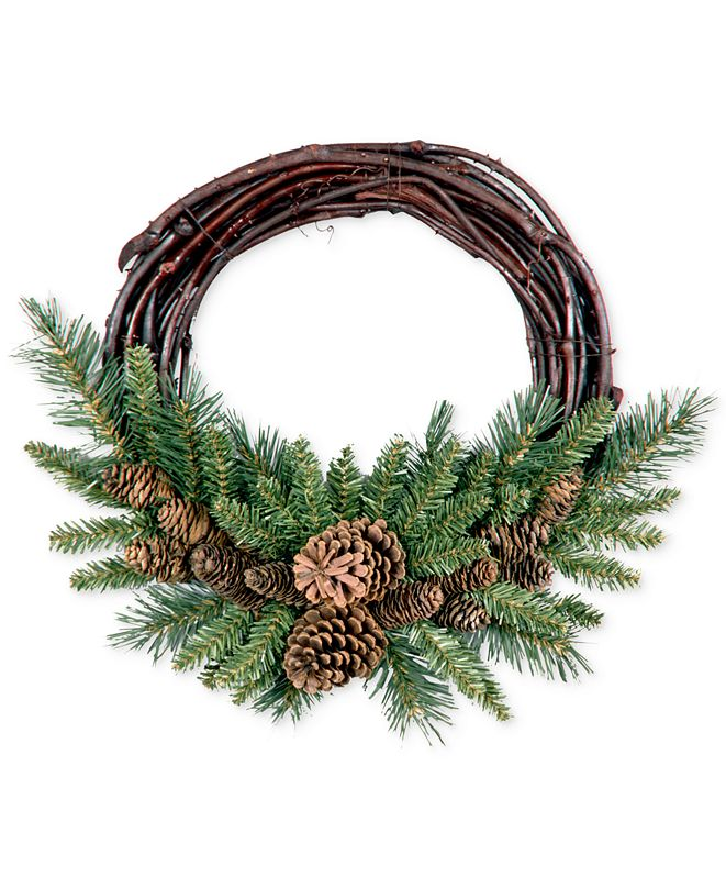 "National Tree Company 16"" Pine Cone Grapevine Wreath"