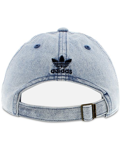 96b473185f6bd adidas adidas Women s Originals Cotton Relaxed Washed Strap-Back Hat ...