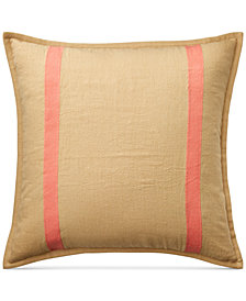 "Lauren Ralph Lauren Yasmine Rustic Stripe 18"" Square Decoraitve Pillow"