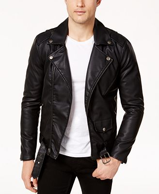 Ring of Fire Men's Retro Faux Leather Jacket, Created for Macy's ...