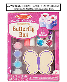 Melissa & Doug Decorate-Your-Own Wooden Butterfly Chest