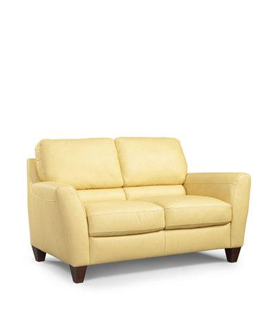 Almafi Leather Loveseat Furniture Macy 39 S