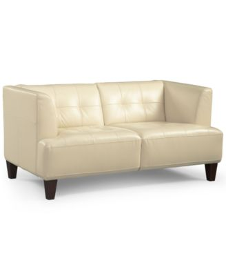 alessia leather loveseat - Sofa Leather