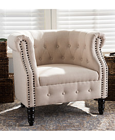 Hillon Chesterfield Chair, Quick Ship