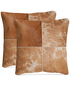 "Witley Cowhide 22"" Pillow (Set Of 2), Quick Ship"
