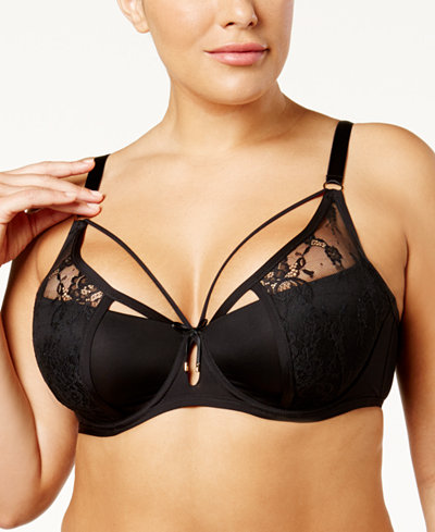 Ashley Graham Plus Size Diva Underwire Lace Bra