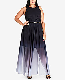 City Chic Trendy Plus Size Ombré Maxi Dress
