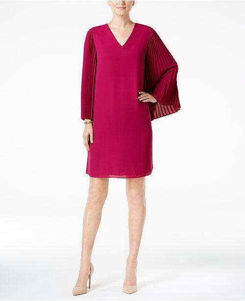 Alfani Petite Accordion-Sleeve Dress, Created for Macy's