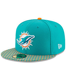New Era Boys' Miami Dolphins Sideline 59FIFTY Fitted Cap