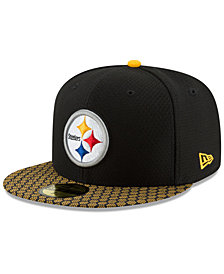 New Era Boys' Pittsburgh Steelers Sideline 59FIFTY Fitted Cap