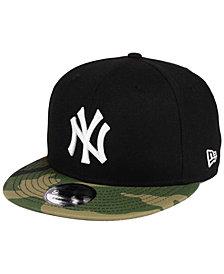New Era New York Yankees Woodland Black/White 9FIFTY Snapback Cap