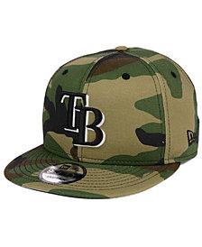 New Era Tampa Bay Rays Woodland Black/White 9FIFTY Snapback Cap