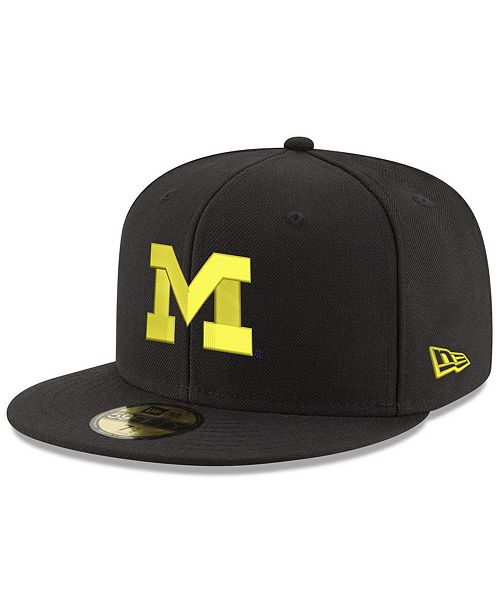 low priced 291c6 87146 ... closeout new era. michigan wolverines shadow 59fifty fitted cap. be the  first to write