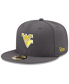 New Era West Virginia Mountaineers Shadow 59FIFTY Fitted Cap