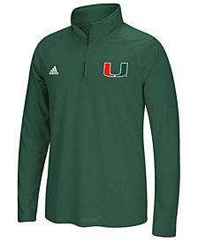 adidas Men's Miami Hurricanes Ultimate Quarter-Zip Pullover