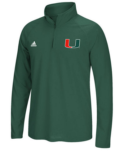 adidas Men's Miami Hurricanes Ultimate Quarter-Zip Pullover