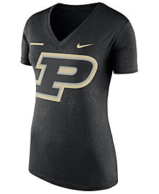 Nike Women's Purdue Boilermakers Stripe Bar T-Shirt