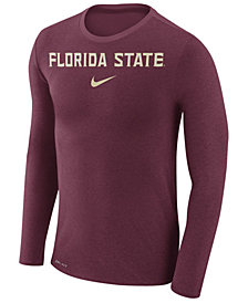 Nike Men's Florida State Seminoles Marled Long Sleeve T-Shirt