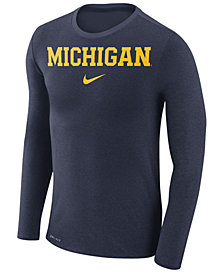 Nike Men's Michigan Wolverines Marled Long Sleeve T-Shirt