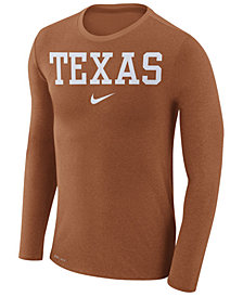 Nike Men's Texas Longhorns Marled Long Sleeve T-Shirt