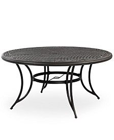 "Cast Aluminum 60"" Round Outdoor Dining Table, Created for Macy's"