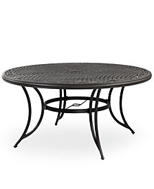 "Cast Aluminum 48"" Round Outdoor Dining Table, Created for Macy's"