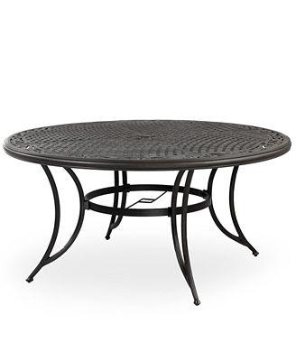 Cast Aluminum 60 Round Outdoor Dining Table Furniture Macys