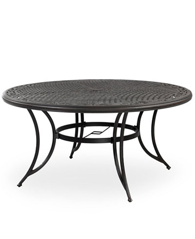 Cast Aluminum  Round Outdoor Dining Table Furniture Macys - Aluminum dining table