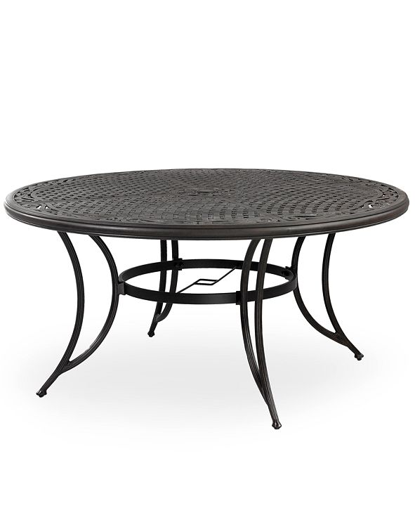 """Furniture Cast Aluminum 60"""" Round Outdoor Dining Table, Created for Macy's"""