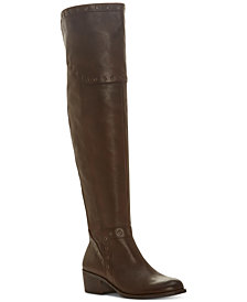 Vince Camuto Bestan Wide-Calf Grommet Over-The-Knee Boots