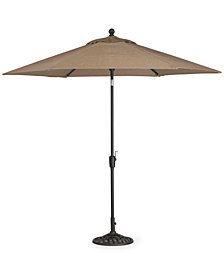 CLOSEOUT! Outdoor 9' Umbrella & Base, Created for Macy's