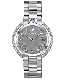 Women's Rubaiyat Diamond (1/4 ct. t.w.) Stainless Steel Bracelet Watch 35mm