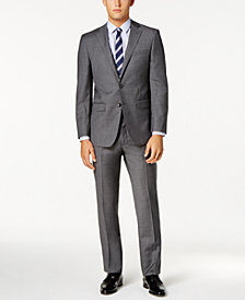 Calvin Klein Men's Extra Slim-Fit Gray Sharkskin Suit