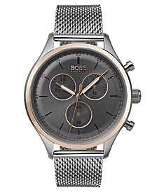 BOSS Hugo Boss Men's Chronograph Companion Stainless Steel Bracelet Watch 42mm