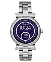 Michael Kors Access Women s Sofie Stainless Steel Bracelet Touchscreen Smart  Watch 42mm fb606f7688