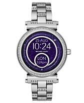a8de4005bc1 Michael Kors Access Women s Sofie Stainless Steel Bracelet Touchscreen  Smart Watch 42mm